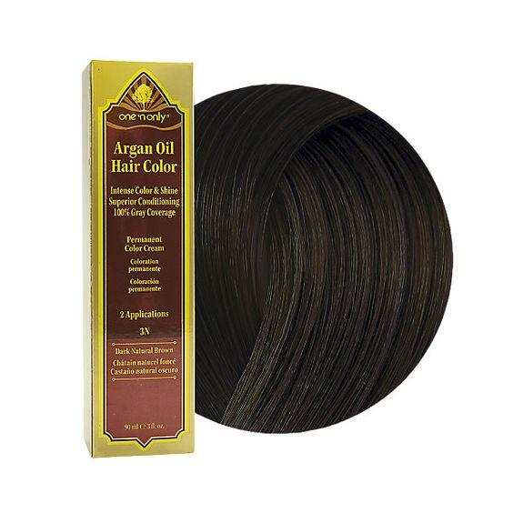 brown permanent and more argan oil hair hair color natural brown argan ...