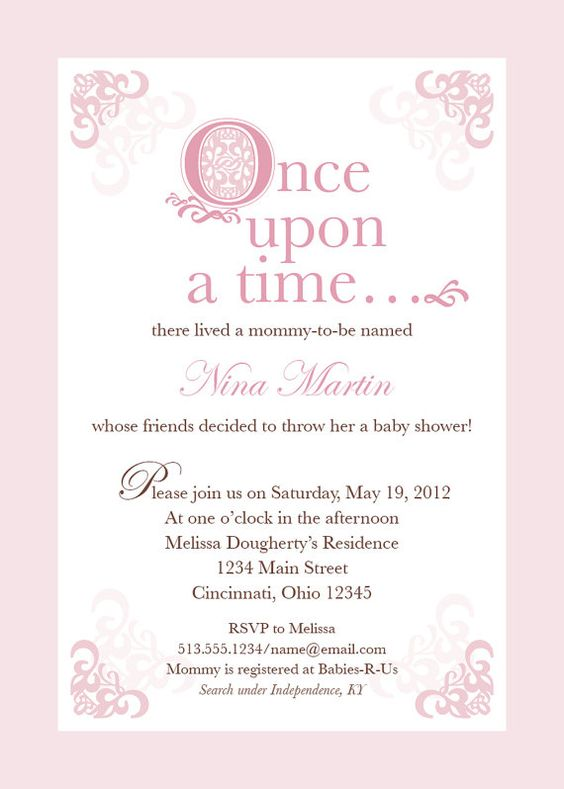 pink fairytale baby shower invitation by thechirpyloft on etsy baby