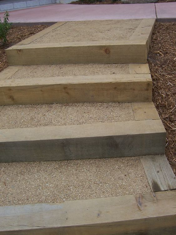 Backyard Landscape Timbers And Decomposed Granite Outdoor Ideas Pinterest