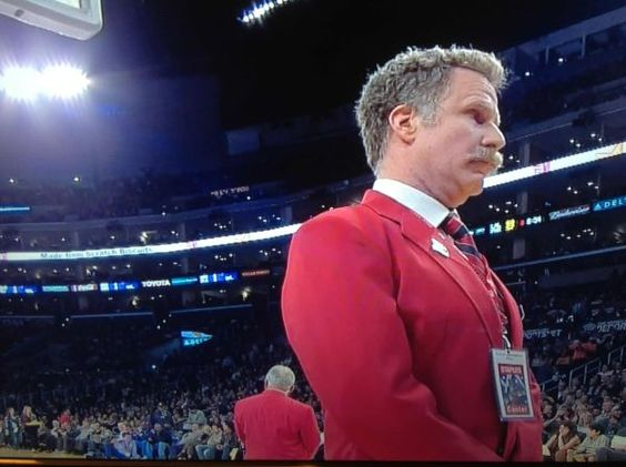 Last night, Will Ferrell was a security guard at the Lakers game ...
