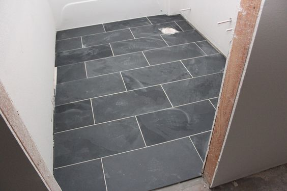 12 X 24 Quot Montauk Black Slate Tiles Floors Pinterest