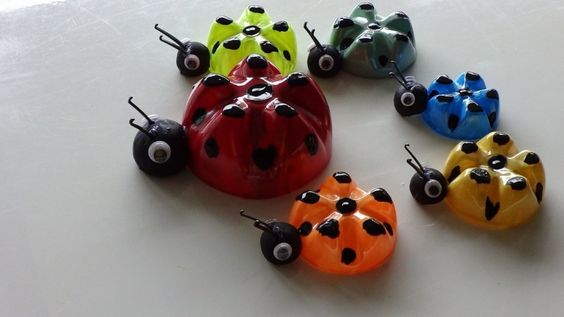 Fun and Environmentally-friendly Recycled Craft Ideas: Lovely Bug Craft Ideas For Preschoolers With Products Made From Recycled Materials ~ bbdesignsny.com Recycling Crafts Inspiration