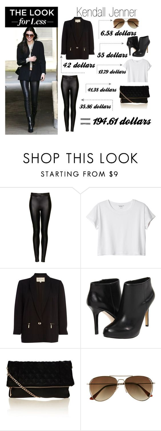 """Celebrity look For less"" by cat-from-k ❤ liked on Polyvore featuring Topshop, Monki, River Island, Nine West, Oasis, H&M and celeblookforless"