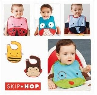 Venda quente! Zoológico história bebê impermeável bib, arrotar roupas. 5pcs/lot. Total tem 11 estilos, pode escolher estilos para o bebê. Frete grátis US $8.50
