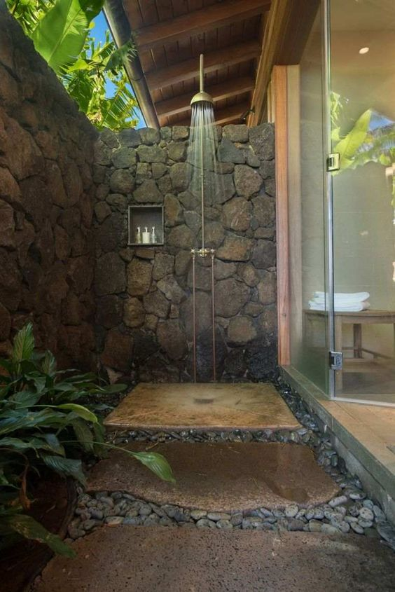 amenager douche exterieure jardin