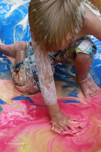 Gloop in the pool, only for the brave! And Delaney said she's brave! :) TOMORROW!