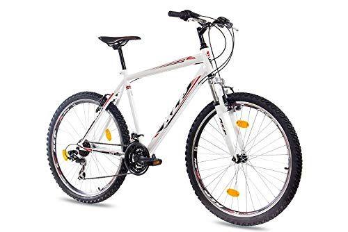 Kcp 26 Zoll Mountainbike Fahrrad Mtb One Weiss Mountain Bike Mit Gabel Federung Fur Herren Jungen Und Damen Mtb Har Mtb Mountainbike 26 Zoll Mountainbike