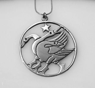 Large Handmade Signed Sterling Sliver Geese and Star FLauraChristine, $45.00