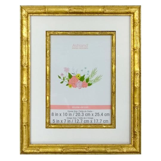 Gold Bamboo 5 X 7 Tabletop Frame By Ashland In 2020 Picture Frame Table Tabletop Frames Frame