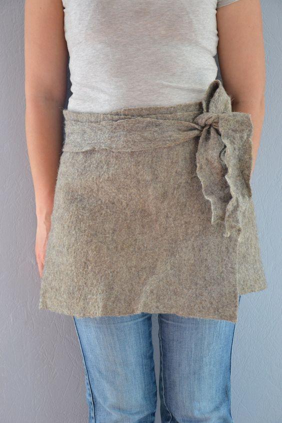 Warme wollen rok Mini Rok Grijze wol van UrsulaShop op Etsy, $73,00