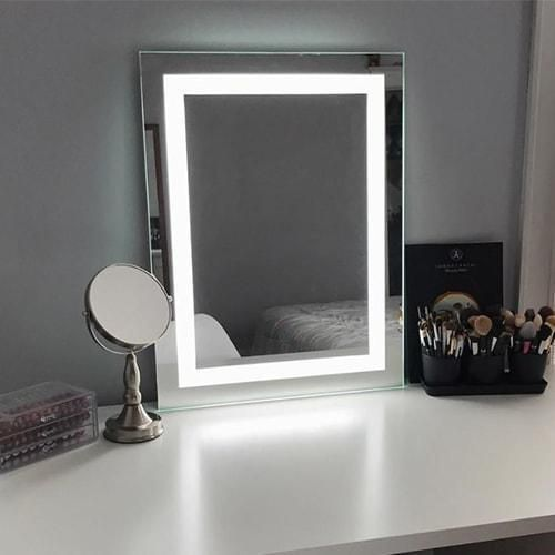Keller Led Lighted Makeup Mirror Led Makeup Mirror Wall Mounted