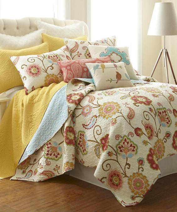 Spring Floral Quilt Set by Levtex Home #zulily #zulilyfinds