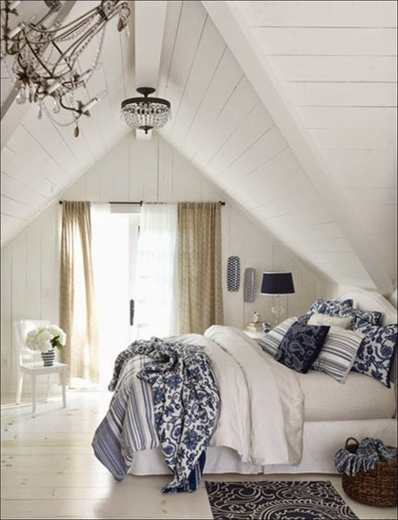 Seeking Lavender Lane European Farmhouse Style And Decor Blue White Bedroom White Bedroom Design Home Bedroom