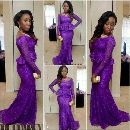Purple dress ~Latest African Fashion, African Prints, African fashion styles, African clothing, Nigerian style, Ghanaian fashion, African women dresses, African Bags, African shoes, Kitenge, Gele, Nigerian fashion, Ankara, Aso okè, Kenté, brocade. ~DK: