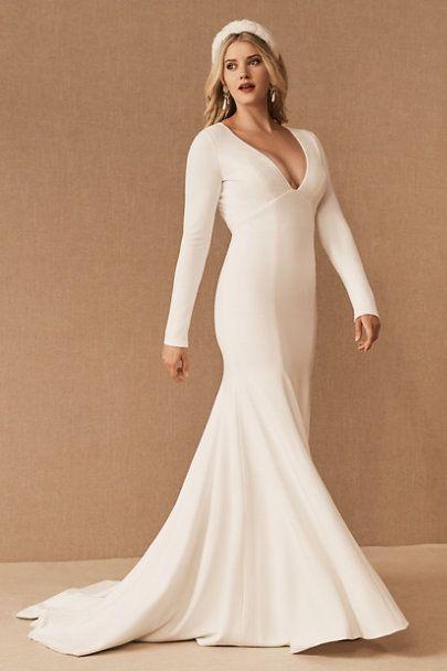 Jenny By Jenny Yoo Karina Gown In 2020 Backless Wedding Dress Wedding Dresses Unique Wedding Dress Long Sleeve