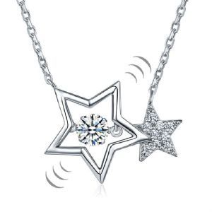 STYLISH STERLING SILVER PENDANT STAR SOLID 925 NEW