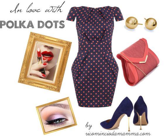 """Polka dots look"" by nunzia-vallozzi on Polyvore"