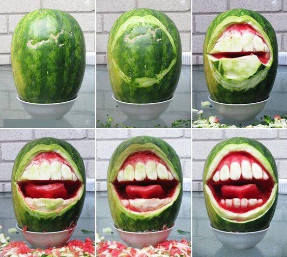 What happens when a dentist carves the watermelon! #dentist #dental #dental humor #dental hygiene #dental hygienist #dental office