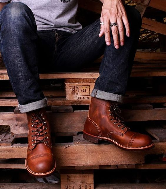 Red Wing 8115 Iron Ranger Copper Rough & Tough Leather Boots , $320  Photo…