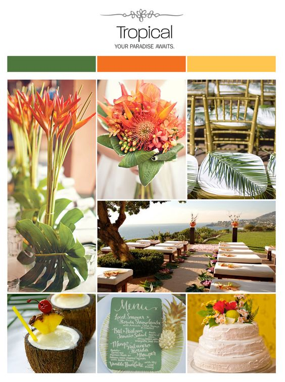 Orange Yellow Weddings Tropical And Inspiration Boards On Pinterest
