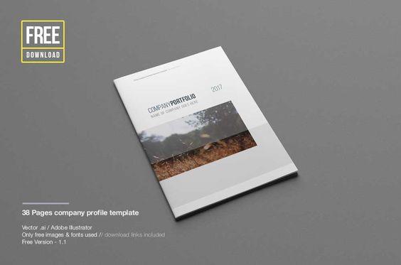 Elegant Company Profile Templates Free Beraksi Pinterest - free profile templates