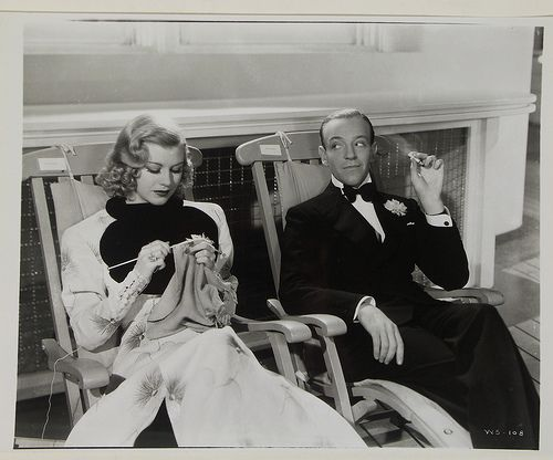 Ginger Rogers (with Fred Astaire). Three of my favorite things...knitting, Fred Astaire, Ginger Rogers, and knitting!!!