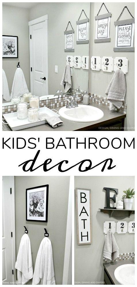 Kids Bathroom Decor Kid Bathroom Decor Gray Bathroom Decor