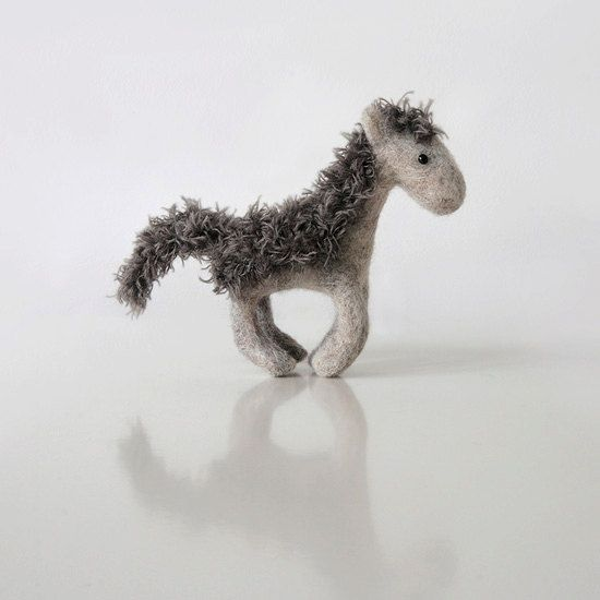Whoa Horsie  cute galloping horse figure from sheep wool - on Etsy