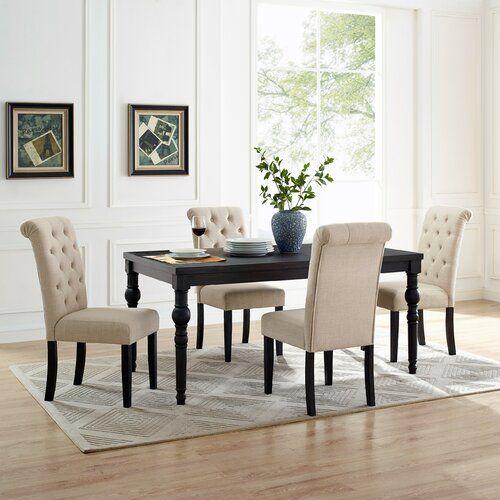 Charlton Home Evelin 5 Piece Dining Set Wayfair Solid Wood Dining Set Dining Room Sets Dining Set