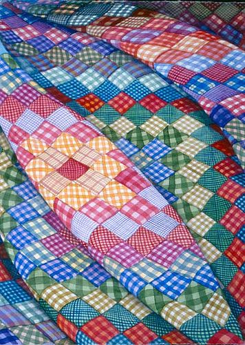 Gingham Square Makes me think of my Grandma. The scraps from her many sewing projects made pretty quilts.  nj