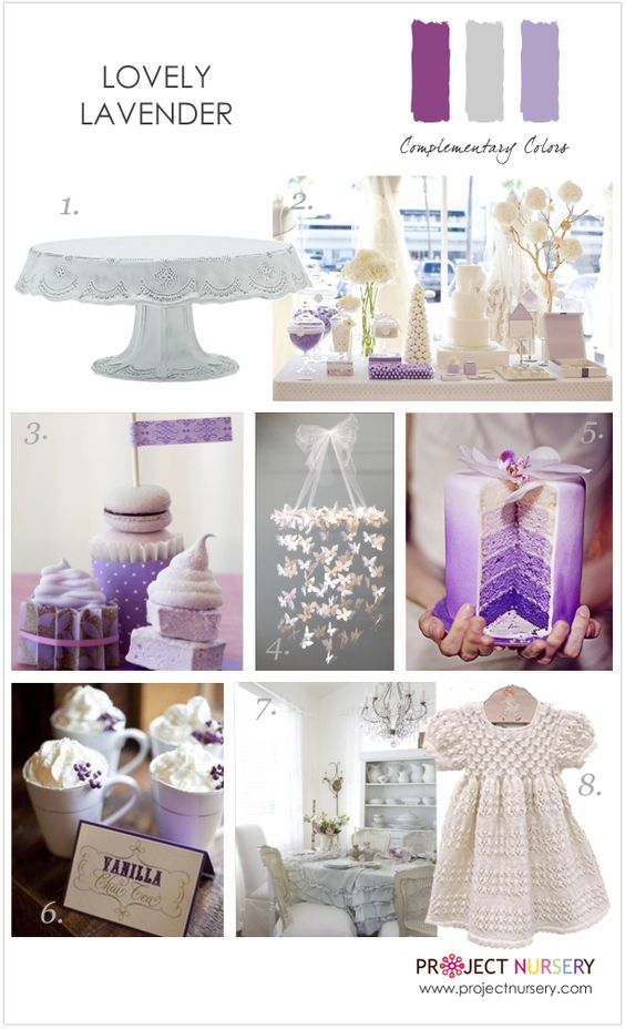 Inspiration for a lovely lavender party - #partyidea #designboard #purple