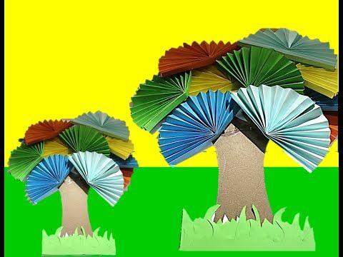 فكرة عمل فني لرياض الاطفال والصفوف الاولية شجرة الجزء 7 Hand Art Old Advertisements Art