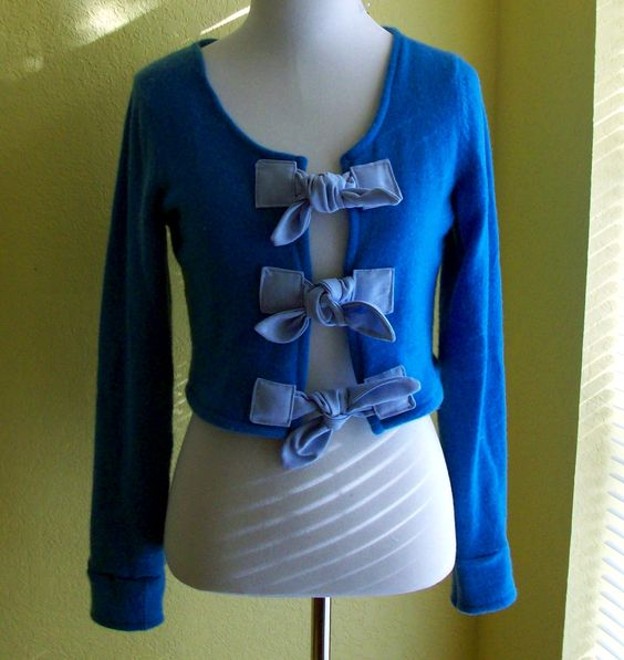Fabric Ties Sweater Refashion - love this!