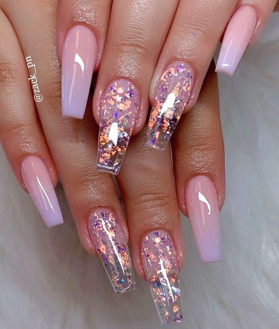 Bright Feature Nail Ombre Glitter Nails Summer Acrylic Glitter Sparkle Bright Summer Nails Nail Designs Summer Acrylic Summer Acrylic Nails