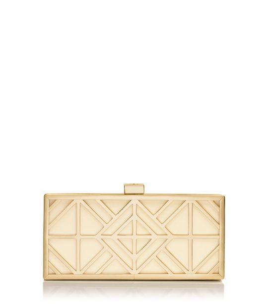Wedding handbag? Tory Burch Fret Clutch : Women's Clutches & Evening Bags | Tory Burch