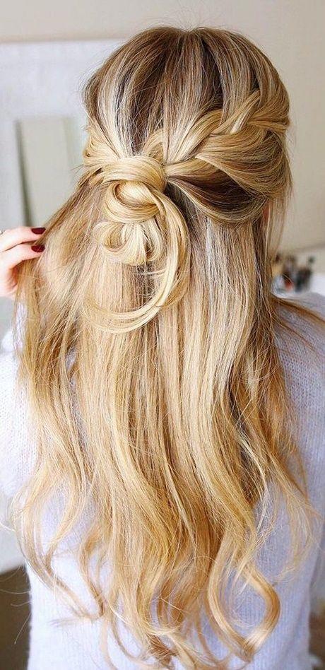 Brautfrisuren Mit Langem Haar Haarschmuck Geflochten Offen Locken Einfachehochsteckfrisuren Halboffen Sch Hair Styles Long Hair Styles Womens Hairstyles