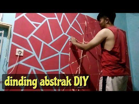 Keren Hanya Modal Lakban Cat Dinding Abstrak Geometrik Youtube Abstrak Dinding Warna