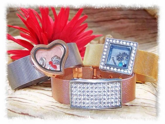 Mesh bands and stylish sliders! Available in Silver, Yellow gold or rose gold! http://www.ohdbynicci.com/