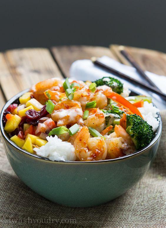 Sweet Fire Shrimp Bowl by iwashyoudry #Shrimp_Bowl