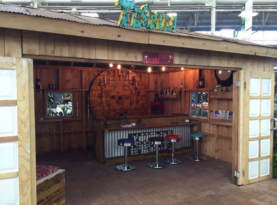 Small Garage Man Cave Ideas : Pub shed man cave indy home show landscaping