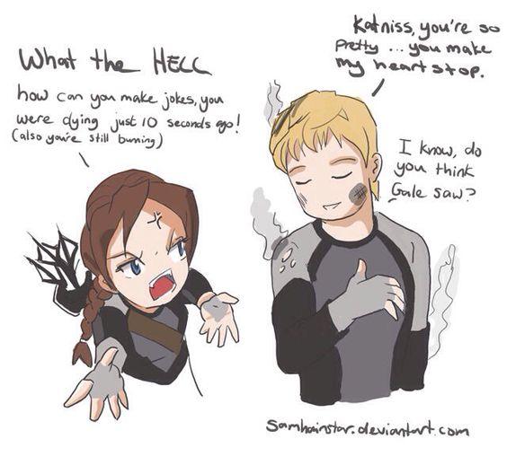 hunger games peeta and katniss fan art
