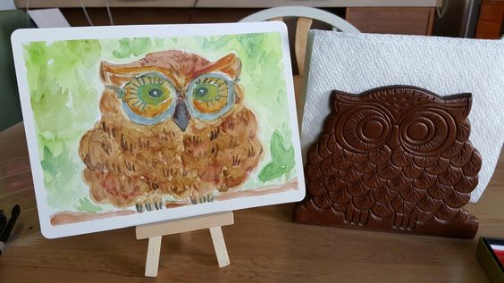 Watercolor Owl and Inspiration