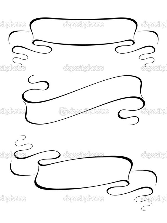 Line Art Ribbon : How to draw a banner ribbon google search doodle