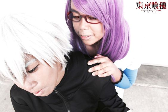 """Ghouls - Ayura Ikinami(Yura) Rize Kamishiro,  Ken Kaneki Cosplay Photo"""