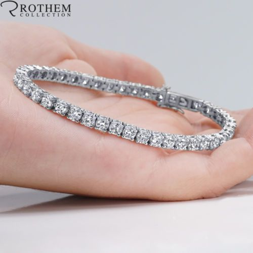 New Year S Gift Idea For Ladies 14k White Gold Diamond Tennis Bracelet Tennis Bracelet Diamond Black Diamond Earrings Studs Diamond Necklace Designs