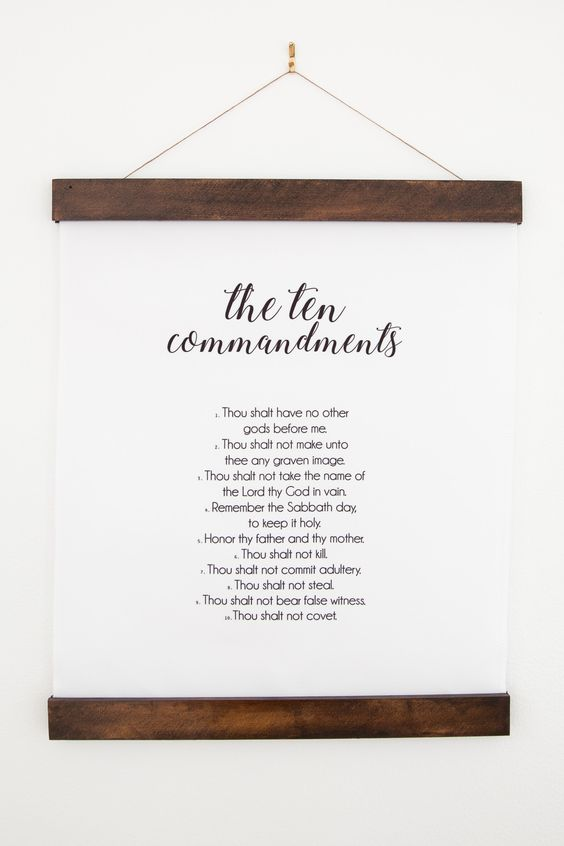 Ten Commandments 16x20 Wall Hanging | 10 Commandments | Christianity | Religious Home Decor Gift | Christian Art | Religious Wall Hanging