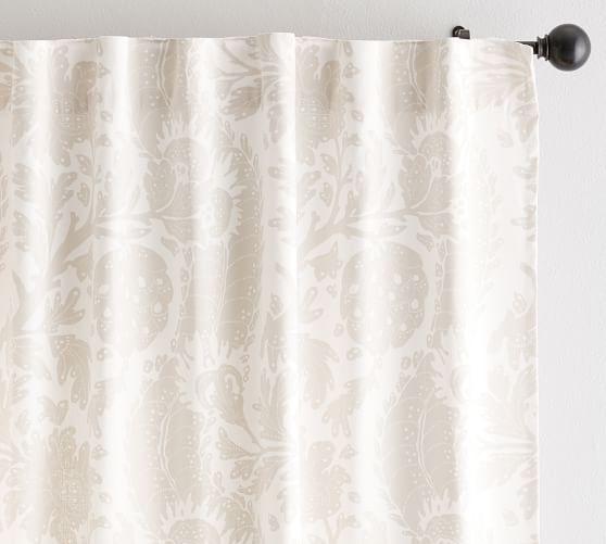 Riviera Stripe Blackout Curtain Charcoal Printed Curtains Curtains Custom Drapes
