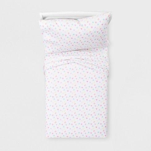 Hearts Cotton Sheet Set Pillowfort 100 Cotton Sheets