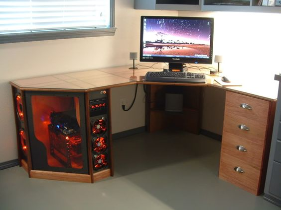 desk gaming pc setup gamer desk custom computer desk computer desk