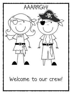 Mrs Jump's class: The First Week of School Part One..... Pirate sheet added per request!